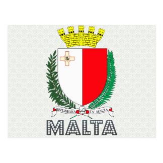 Malta Coat of Arms Postcard