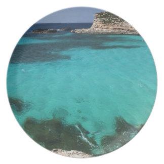 Malta, Comino Island, The Blue Lagoon Melamine Plate