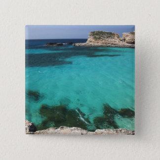 Malta, Comino Island, The Blue Lagoon Pinback Button