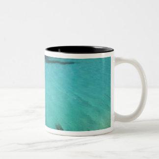 Malta, Comino Island, The Blue Lagoon Two-Tone Coffee Mug
