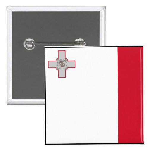 Malta con la frontera, bandera de Malta Pins