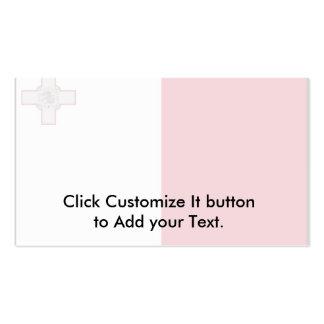 Malta con la frontera, bandera de Malta Tarjetas De Visita