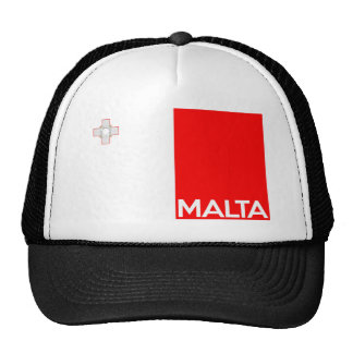 malta country flag symbol name text trucker hat
