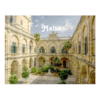 Malta Courtyard Postcard