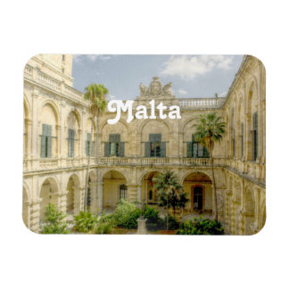 Malta Courtyard Rectangular Magnet