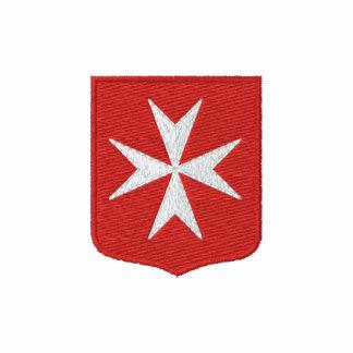 Malta cross embroidered polo shirt