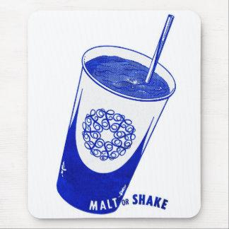 Malta del kitsch 50s del vintage o taza retra de mouse pad