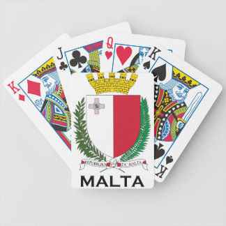 MALTA - emblem coat of arms symbol flag Playing Cards