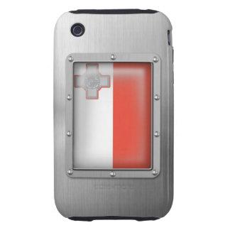 Malta en acero inoxidable carcasa resistente para iPhone
