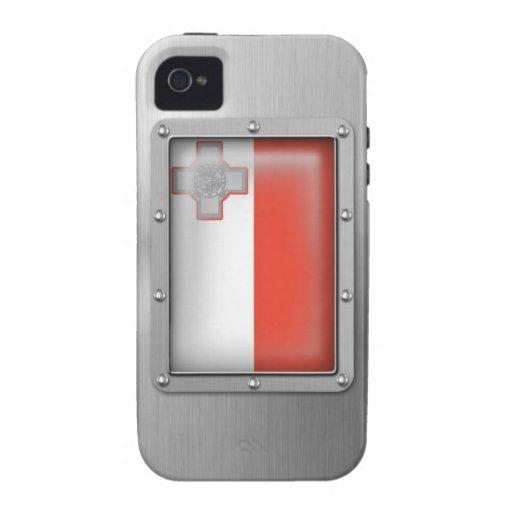 Malta en acero inoxidable iPhone 4/4S carcasas