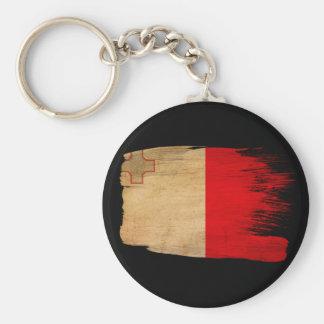 Malta Flag Basic Round Button Keychain