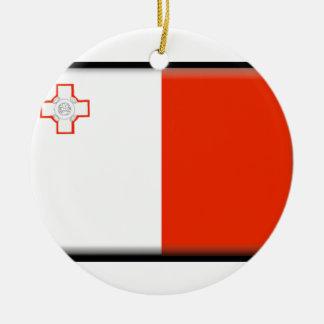 Malta Flag Ceramic Ornament