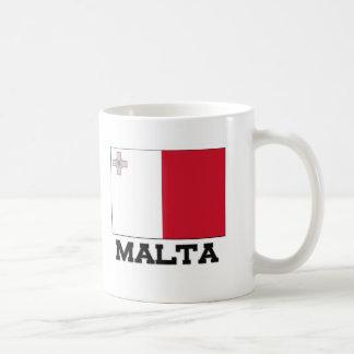 Malta Flag Classic White Coffee Mug