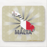 Malta Flag Map 2.0 Mouse Pad