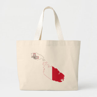 Malta Flag Map full size Tote Bags