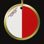 Malta Fisheye Flag Ornament