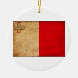 Malta Flag Christmas Tree Ornaments