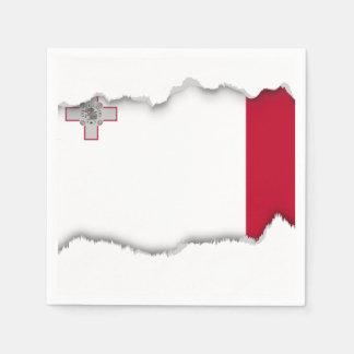 Malta flag paper napkin