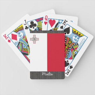 Malta Flag pillow Bicycle Poker Cards