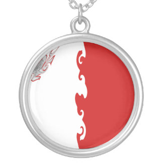 Malta Gnarly Flag Silver Plated Necklace