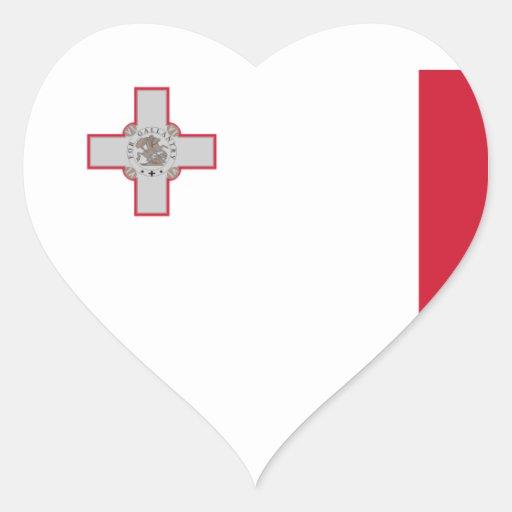 malta heart sticker