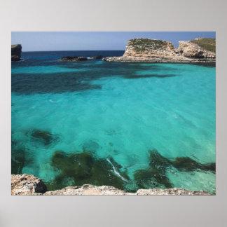 Malta, isla de Comino, la laguna azul Póster