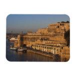Malta, La Valeta, opinión del puerto de un Barrakk Imán