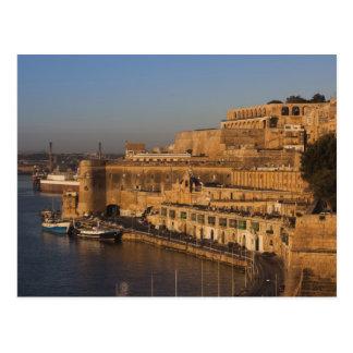 Malta, La Valeta, opinión del puerto de un Barrakk Postales