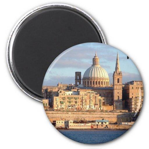 Malta La Valeta (St.K) Imán Redondo 5 Cm