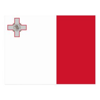 Malta, Malta flag Postcard