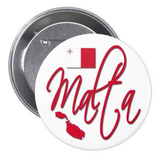 Malta Pin Redondo De 3 Pulgadas