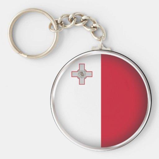 Malta redonda llaveros personalizados
