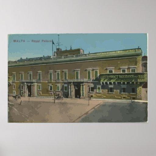 Malta - Royal Palace, vintage Impresiones