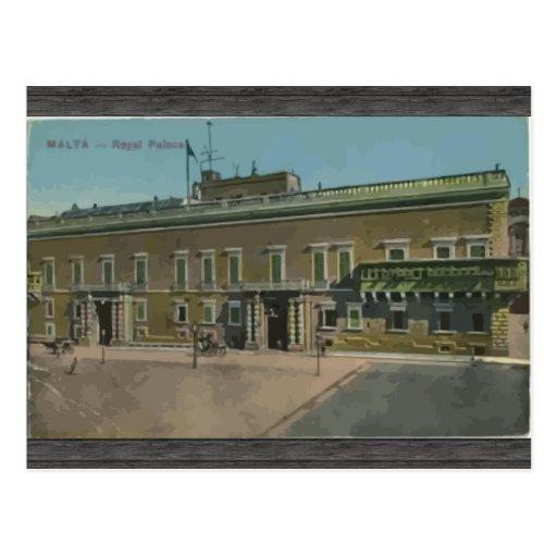 Malta - Royal Palace, vintage Postal