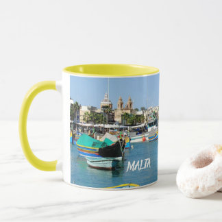 Malta Scenic View Traditional Boats Mug
