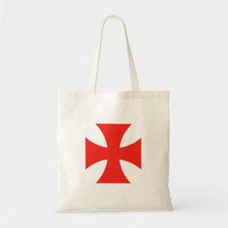 malta templar knights red cross religion symbol budget tote bag