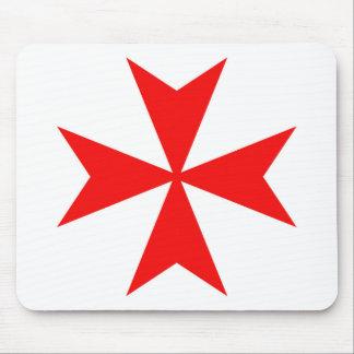 malta templar knights red cross religion symbol mouse pad