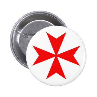 malta templar knights red cross religion symbol pinback button