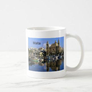 Malta Vallete Harbor (St.K) Classic White Coffee Mug