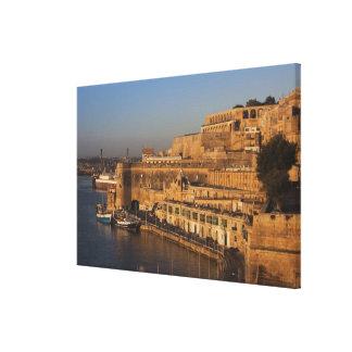 Malta, Valletta, harbor view from Lower Barrakka Canvas Print