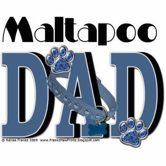 MaltaPoo DAD Acrylic Cut Out