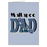MaltaPoo DAD Greeting Cards