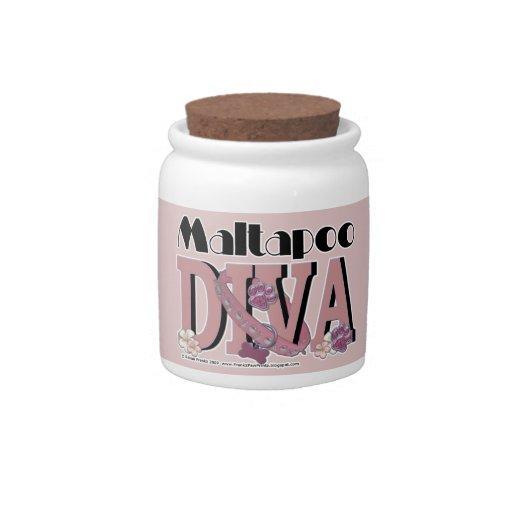 MaltaPoo DIVA Candy Jar
