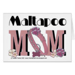 MaltaPoo MOM Greeting Card