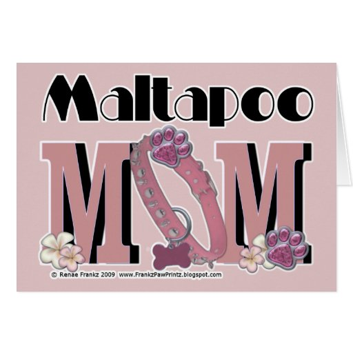 MaltaPoo MOM Greeting Cards