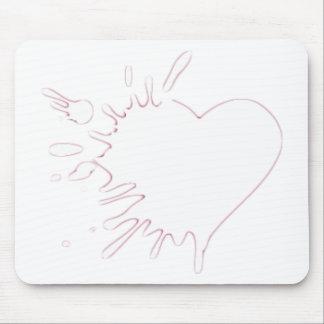 Malteado del corazón tapete de ratón