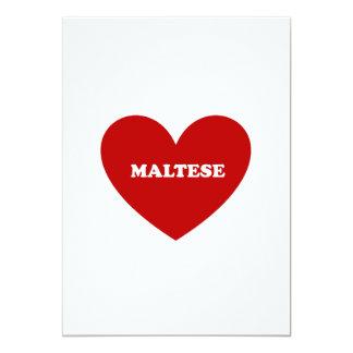 "Maltés Invitación 5"" X 7"""