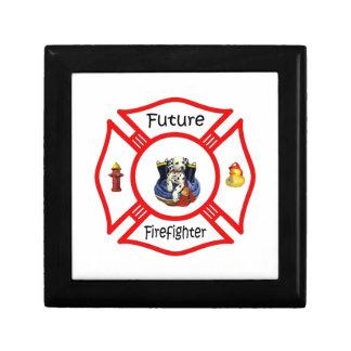Maltés rojo del bombero futuro cajas de recuerdo