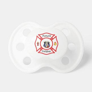 Maltés rojo del bombero futuro chupetes para bebés