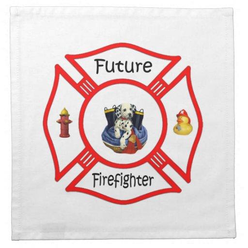 Maltés rojo del bombero futuro servilleta imprimida